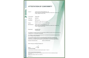 CE certificate for pipe heating cable
